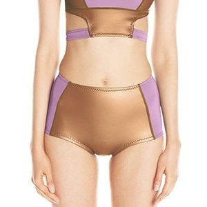 Cynthia Rowley High waist neoprene Bikini bottom